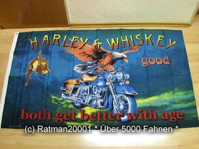 Harley u. Whiskey - 90 x 150 cm