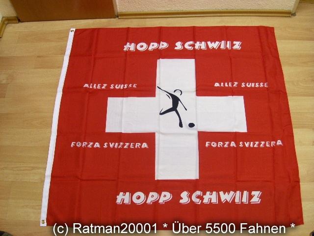 Hopp Schweiz - 120 x 120 cm