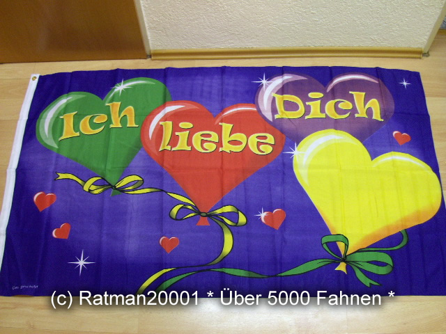 Ich Liebe Dich - 90 x 150 cm
