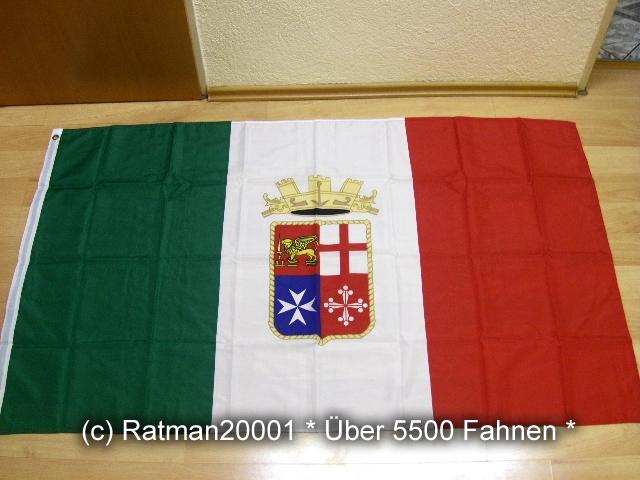 Italien Marineflagge Handelsflagge - 90 x 150 cm