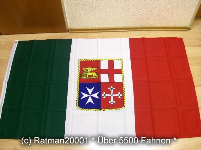 Italien Handelsflagge Marineflagge - 90 x 150 cm