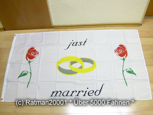 Just Married Rot - 90 x 150 cm