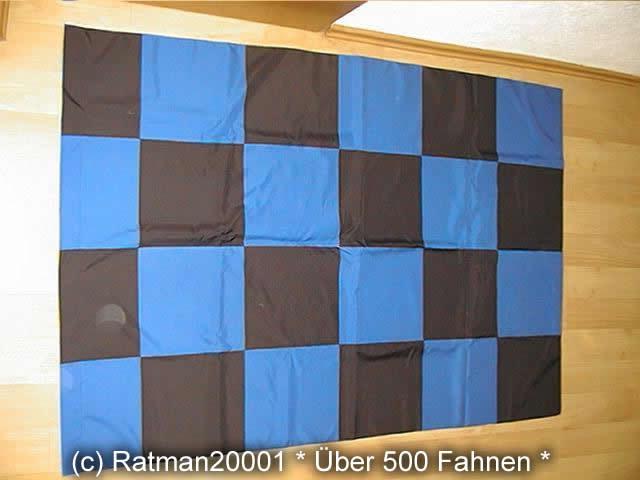 Karo Blau Schwarz - 98 x 140 cm
