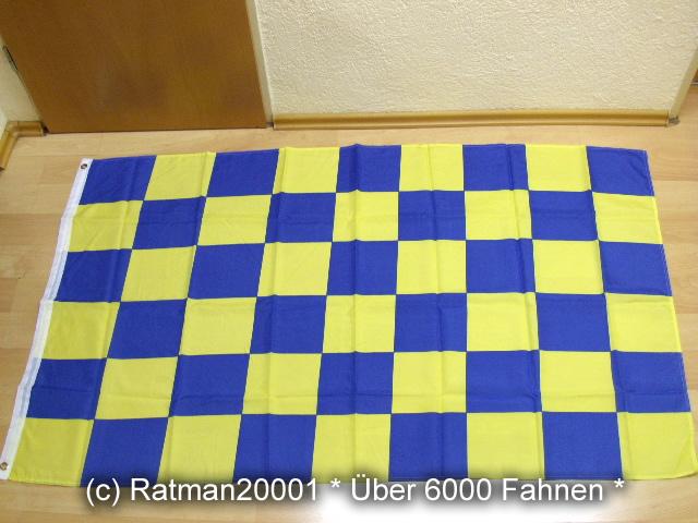 Karo Blau Gelb - 90 x 150 cm