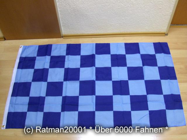 Karo Blau Hellblau - 90 x 150 cm
