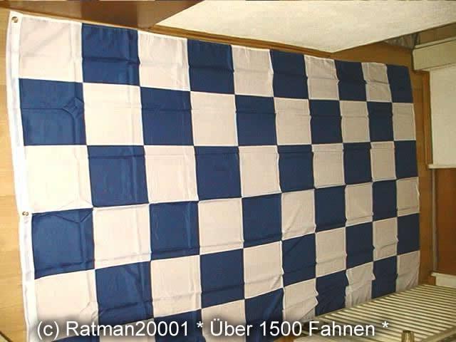 Karo Blau Weiß - 1 - 150 x 250 cm