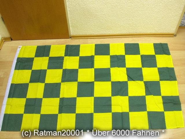 Karo Grün Gelb - 90 x 150 cm