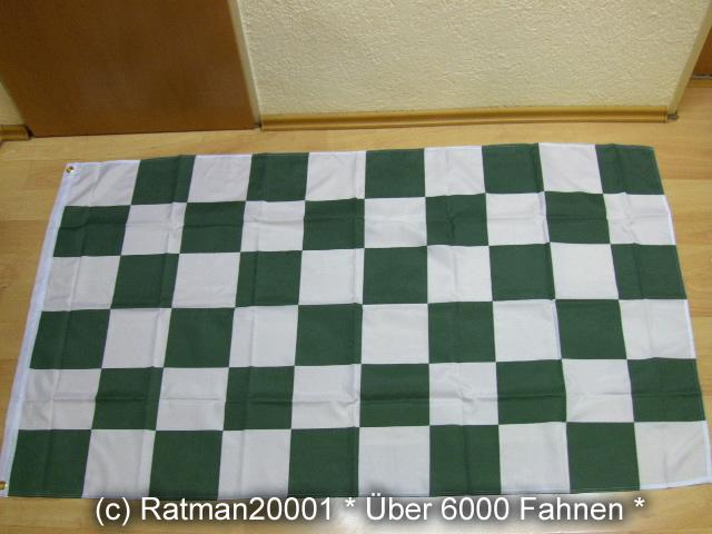 Karo Grün Weiß - 90 x 150 cm
