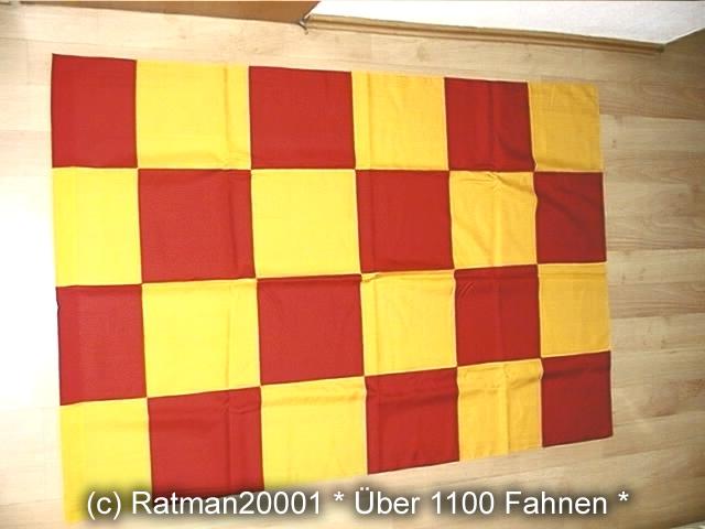 Karo Rot Gelb1 - 98 x 140 cm
