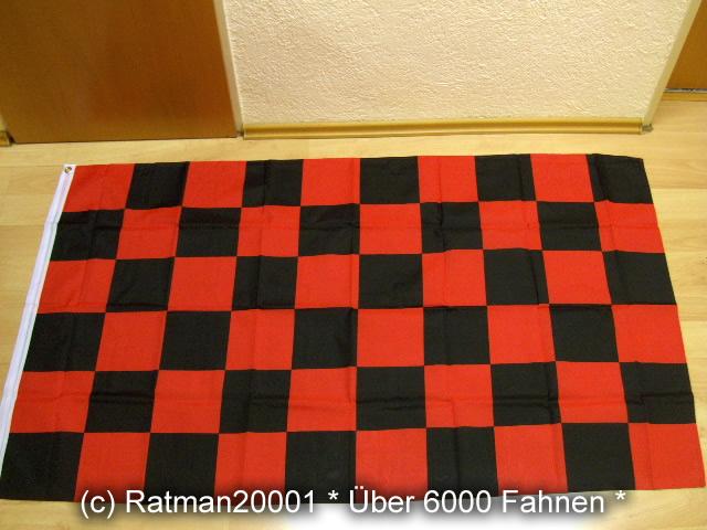 Karo Schwarz Rot - 90 x 150 cm