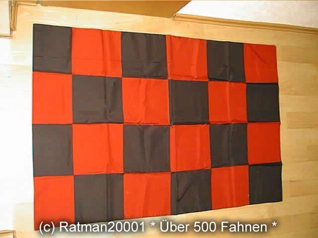 Karo Schwarz Rot - 90 x 130 cm
