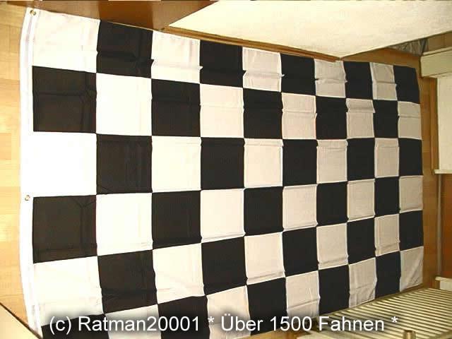 Karo Schwarz Weiß Start Ziel - 150 x 250 cm