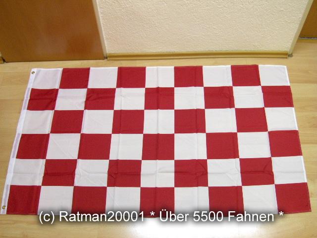 Karo Rot Weiß neu - 90 x 150 cm