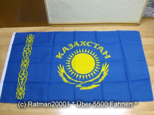 Kasachstan mit Schrift - 90 x 150 cm