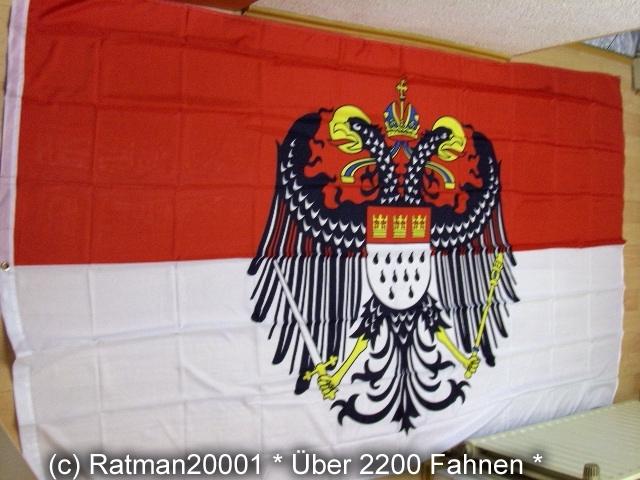 Köln mit großen Wappen - 1 - 150 x 250 cm