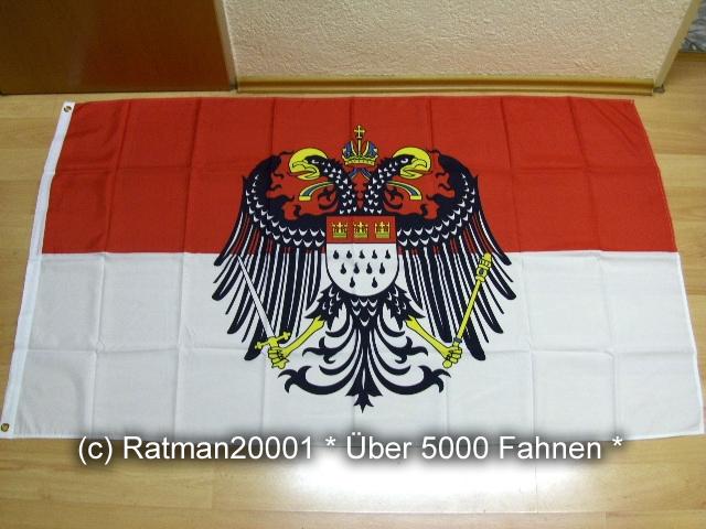 Köln mit großen Wappen - 90 x 150 cm