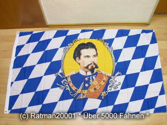 Bayern König Ludwig - 90 x 150 cm