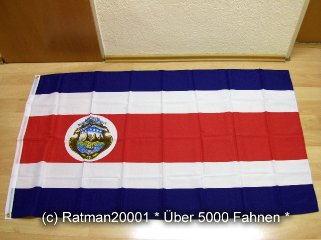 Costa Rica Kostarika - 90 x 150 cm