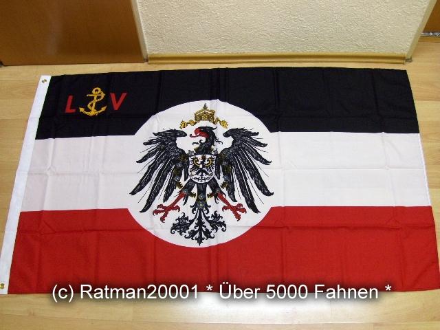 Deutsches Reich Lotsenflagge - 90 x 150 cm