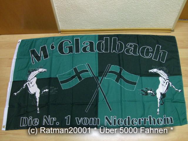 Mönchengladbach die Nr1 Fan Fahne - 90 x 150 cm