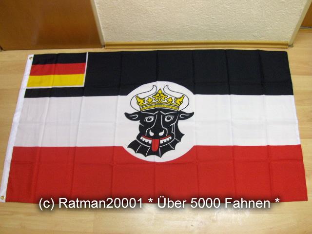 Deutsches Reich Mecklenburg Seefahrts Flagge - 90 x 150 cm