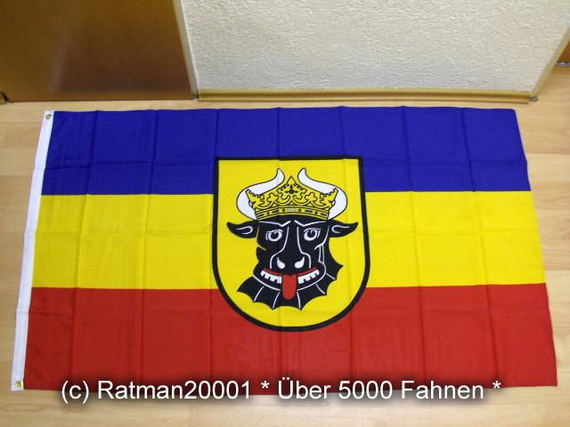Mecklenburg Wappen Ochsenkopf - 90 x 150 cm