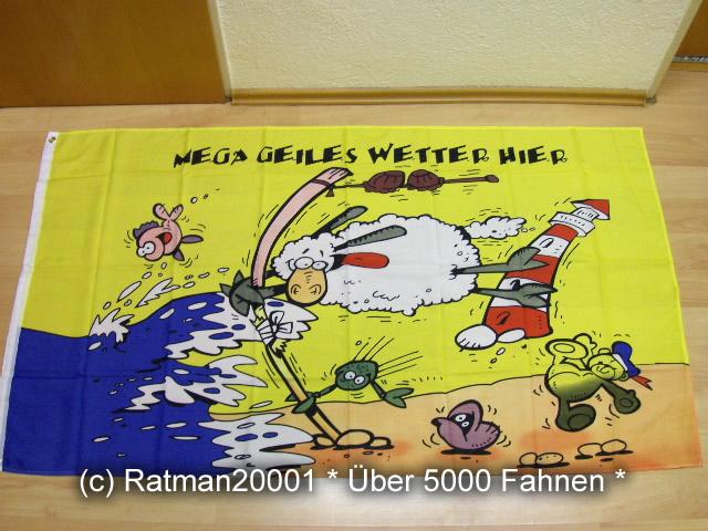 Mega geiles Wetter Schaf - 90 x 150 cm