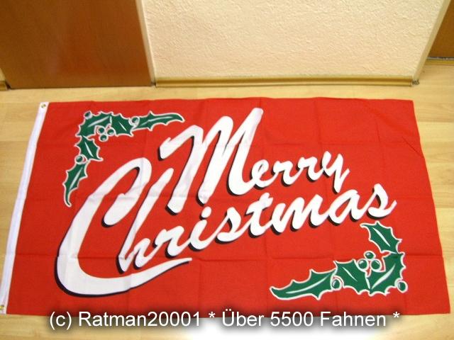 Merry Christmas Rot - 90 x 150 cm
