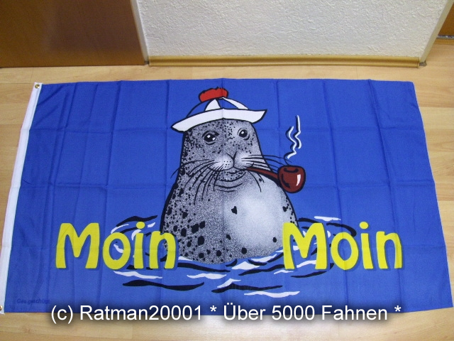 Moin Moin Seehund Pfeife - 90 x 150 cm