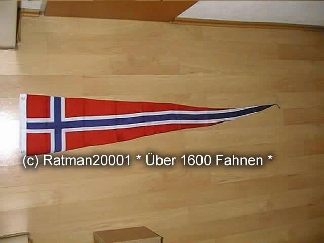 Norwegen Wimpel - 30 x 150 cm