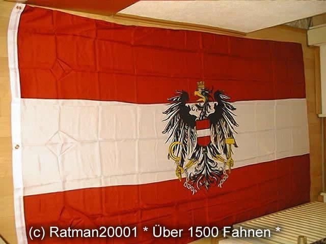 Österreich mit Wappen - 1 - 150 x 250 cm
