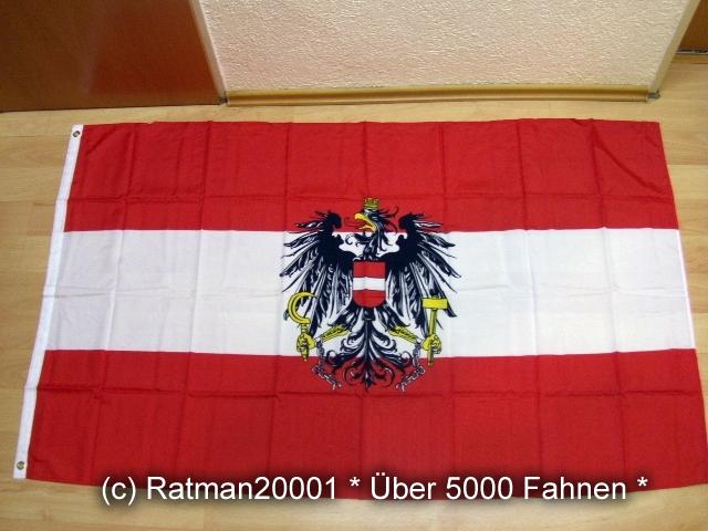 Österreich mit Wappen NEU - 90 x 150 cm