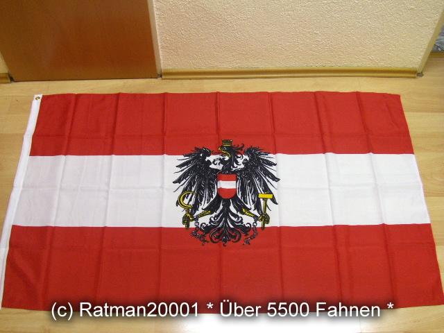 Österreich mit Wappen - 90 x 150 cm