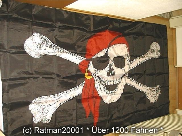Pirat Totenkopf Tuch -2- 150 x 250 cm
