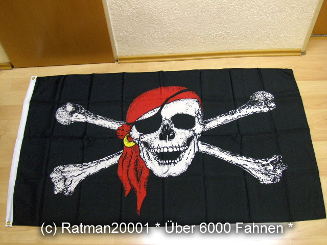 Pirat Totenkopf Tuch - 1 - 150 x 250 cm