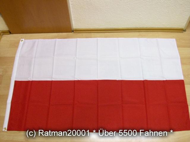 Polen ohne Wappen - 90 x 150 cm