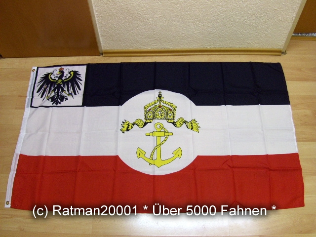 Preussen Seedienstflagge - 90 x 150 cm
