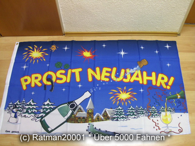 Prosit Neujahr - 90 x 150 cm
