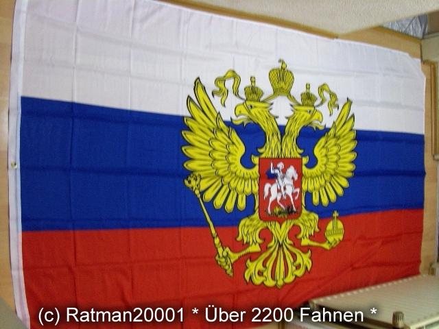Russland mit Wappen - 1 - 150 x 250 cm