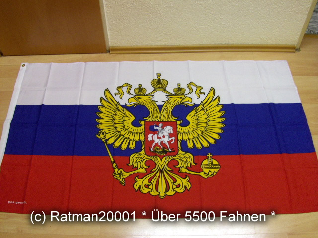 Russland mit Wappen - 90 x 150 cm
