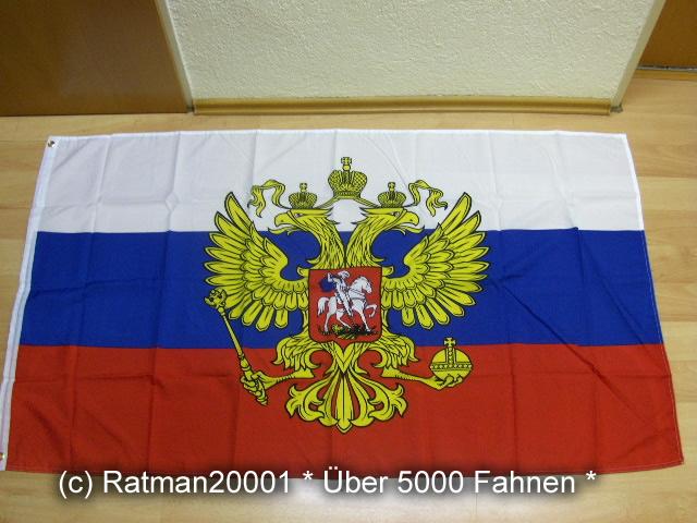 Russland mit Wappen Neu - 90 x 150 cm