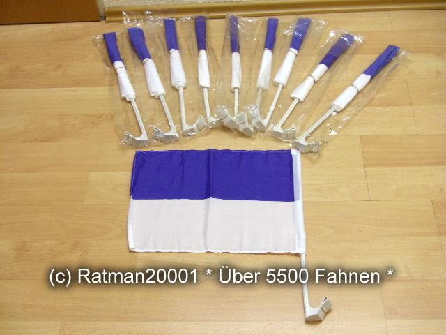 10 x Schützenfest Blau Weiss Auto Fahne - 30 x 40 cm