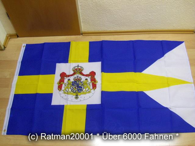 Schweden Standarte des Königs - 90 x 150 cm