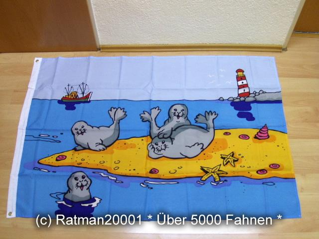 Seehunde Sandbank - 95 x 135 cm