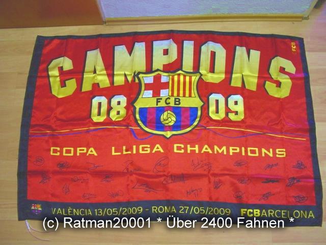 Spanien FC Barcelona Campions 2009 - 95 x 145 cm