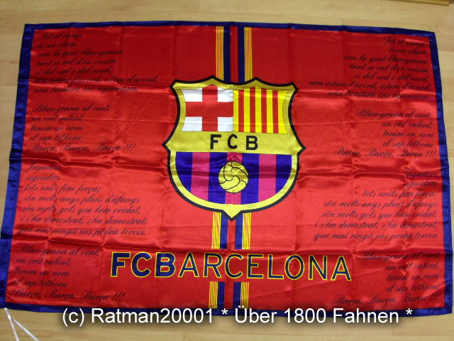 Spanien FC Barcelona Schrift  95 x 145 cm