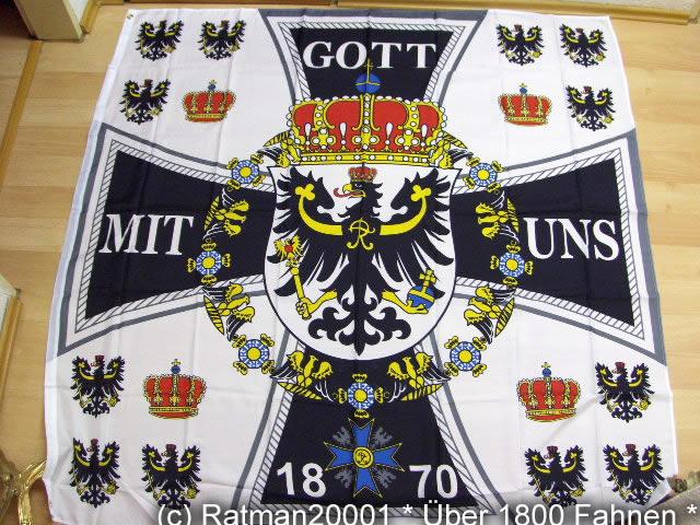 Standarte des Königlichen Hauses Neu -1858 - 150 x 150 cm