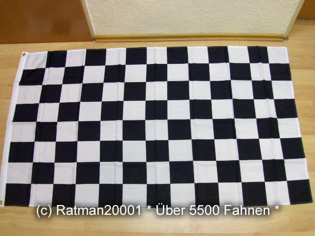 Karo Schwarz Weiß Start Ziel - 90 x 150 cm