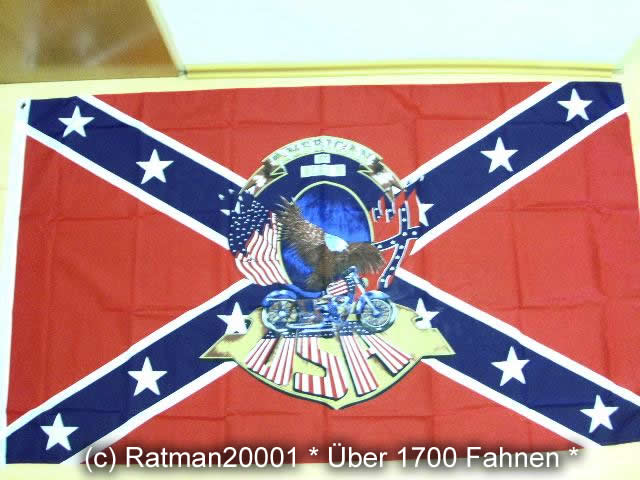 Südstaaten Rebel American by Birth - 90 x 150 cm