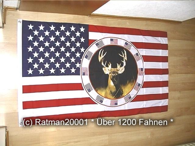 USA Hirsch - 90 x 150 cm